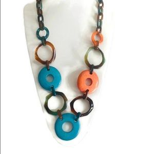 Vintage 60's Mod Large Necklace